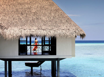 Необычная крыша из пальмового листа